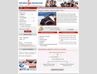 vietnamvisa-online.com screenshot