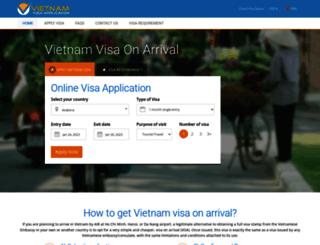 vietnamvisaapplication.com screenshot