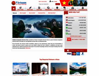 vietnamvisacorp.com screenshot