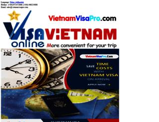 vietnamvisapro.com screenshot