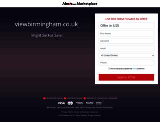 viewbirmingham.co.uk screenshot