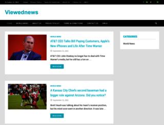 viewednews.com screenshot