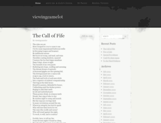 viewingcamelot.wordpress.com screenshot