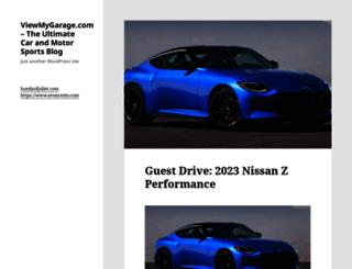 viewmygarage.com screenshot