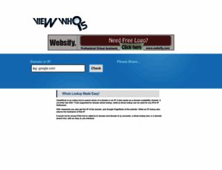 viewwhois.com screenshot