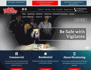 vigilantesecurity.com screenshot