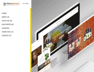 vihaaninfotech.com screenshot