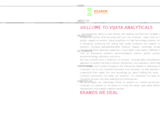 vijayaanalytical.com screenshot
