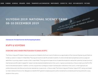 vijyoshi.iiserkol.ac.in screenshot