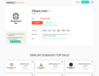 vikare.com screenshot