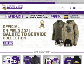 vikingsfanshop.com screenshot