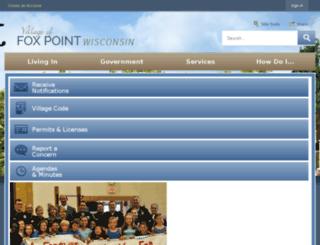 vil.fox-point.wi.us screenshot