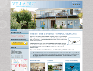 villablu.co.za screenshot