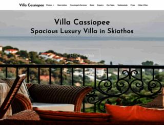 villacassiopee.com screenshot