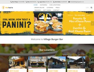 villageburgerbar.com screenshot