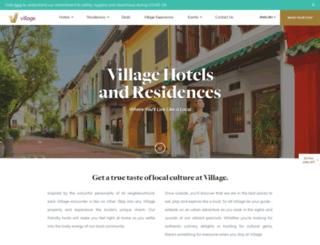 villagehotels.com.sg screenshot