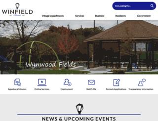 villageofwinfield.com screenshot