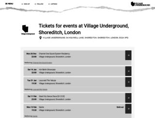 villageunderground.seetickets.com screenshot