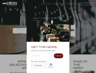villagewine.biz screenshot