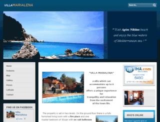 villamarialena.gr screenshot