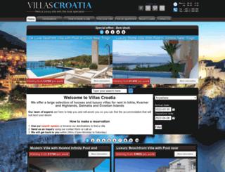 villascroatia.net screenshot