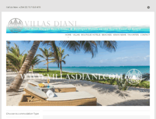 villasdiani.com screenshot