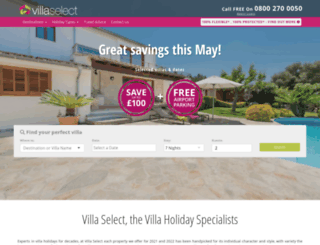 villaselect.com screenshot
