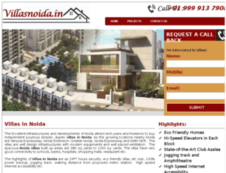 villasingreaternoida.in screenshot