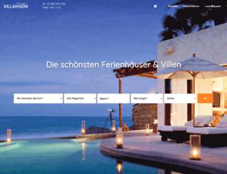villavision-ferienhauser.de screenshot