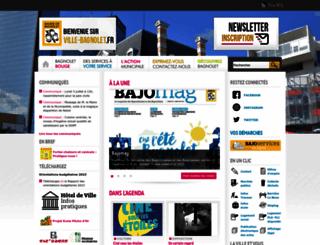 ville-bagnolet.fr screenshot