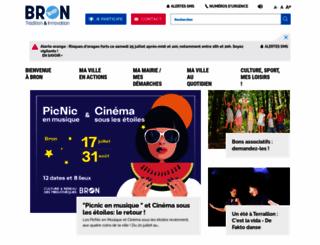 ville-bron.fr screenshot