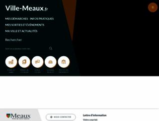 ville-meaux.fr screenshot