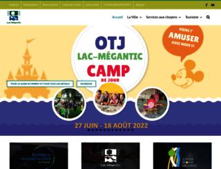 ville.lac-megantic.qc.ca screenshot
