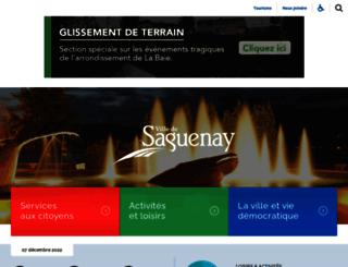 ville.saguenay.ca screenshot