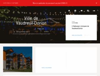 ville.vaudreuil-dorion.qc.ca screenshot
