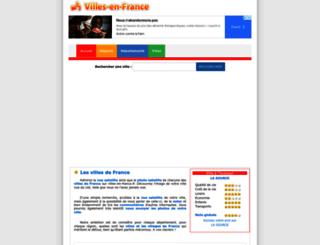 villes-en-france.fr screenshot