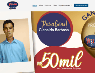villonialimentos.com.br screenshot