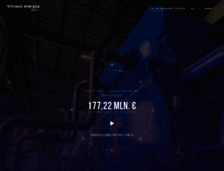 vilniausenergija.lt screenshot
