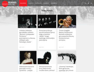 vilniusfestivals.lt screenshot