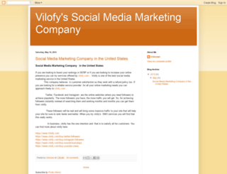 vilofysocialmediamarketingcompany.blogspot.com screenshot