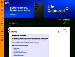 vim.wikia.com screenshot