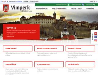 vimperk.cz screenshot