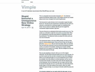 vimple.wordpress.com screenshot