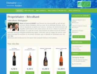 vin-bio-andre.fr screenshot