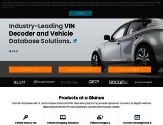 vin.dataonesoftware.com screenshot