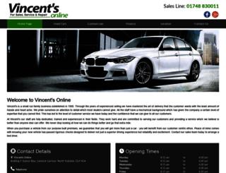 vincentsonline.co.uk screenshot