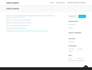 vincesamios.com screenshot