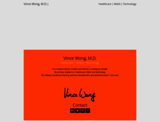 vincewong.com screenshot