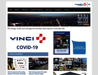 vinci.plc.uk screenshot