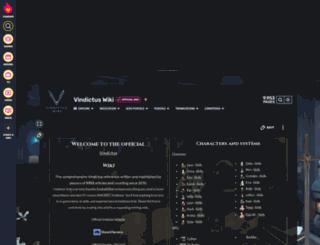vindictuswiki.com screenshot